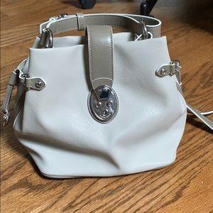 Tunic taupe pocketbook/ crossbody bag
